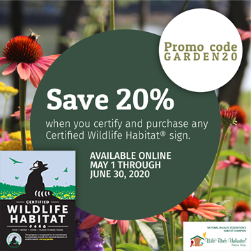 Save 20% when you certify and purchase any CWH sign. Promo code GARDEN20