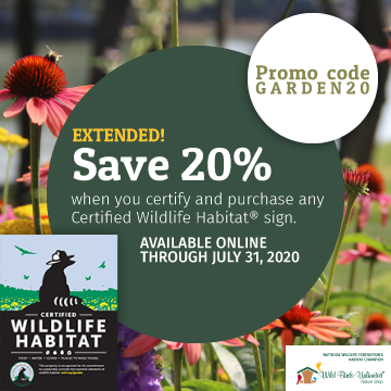 Extended Save 20% when you certify and purchase any CWH sign. Use code GARDEN20