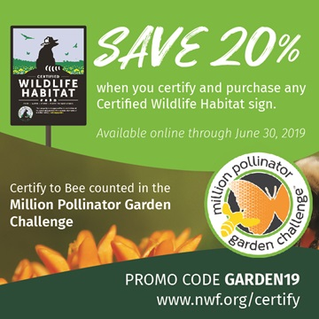 Save 20% when you certify and purchase any CWH sign. promo code GARDEN19