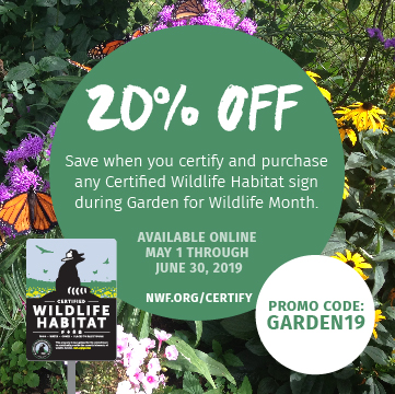 Receive 20% off certification and any CWH sign. Use promo code GARDEN19