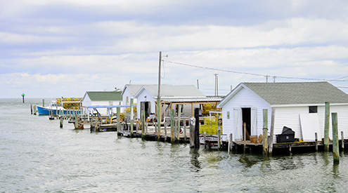 Chesapeake Bay fishing huts by Arun Kumar Choonatt Gopalakurup