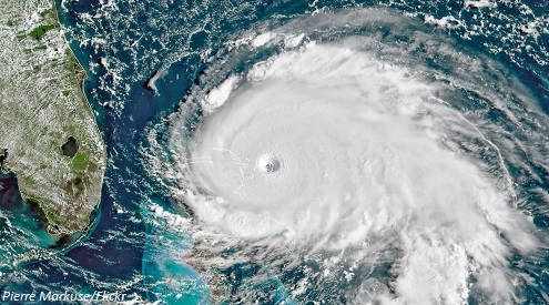 Satellite image of Hurricane Dorian by Pierre Markuse