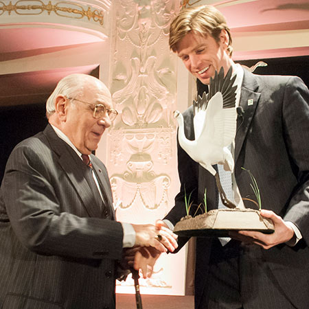 Collin O'Mara receiving a Conservation Award