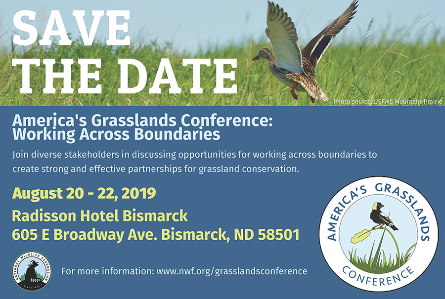 Save the Date invitation for America's Grasslands Conference 2019