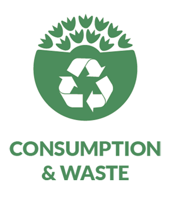 consumption and waste pathway icon