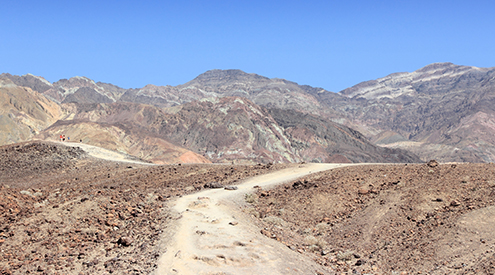 trail in  death valley national park