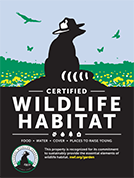 Make your garden a National Wildlife Federation Certified Wildlife Habitat