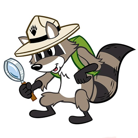 Ranger Rick with magnifying glass