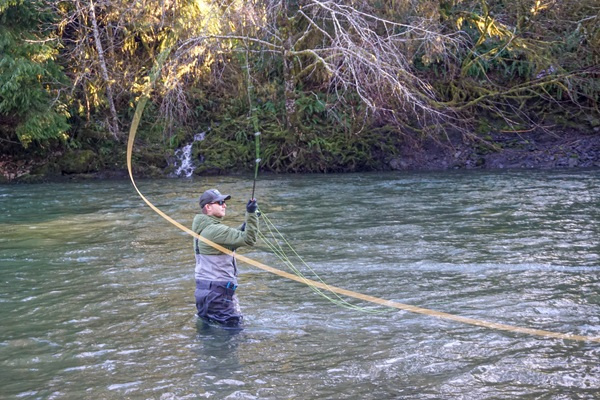 Chase fly fishing for salmon