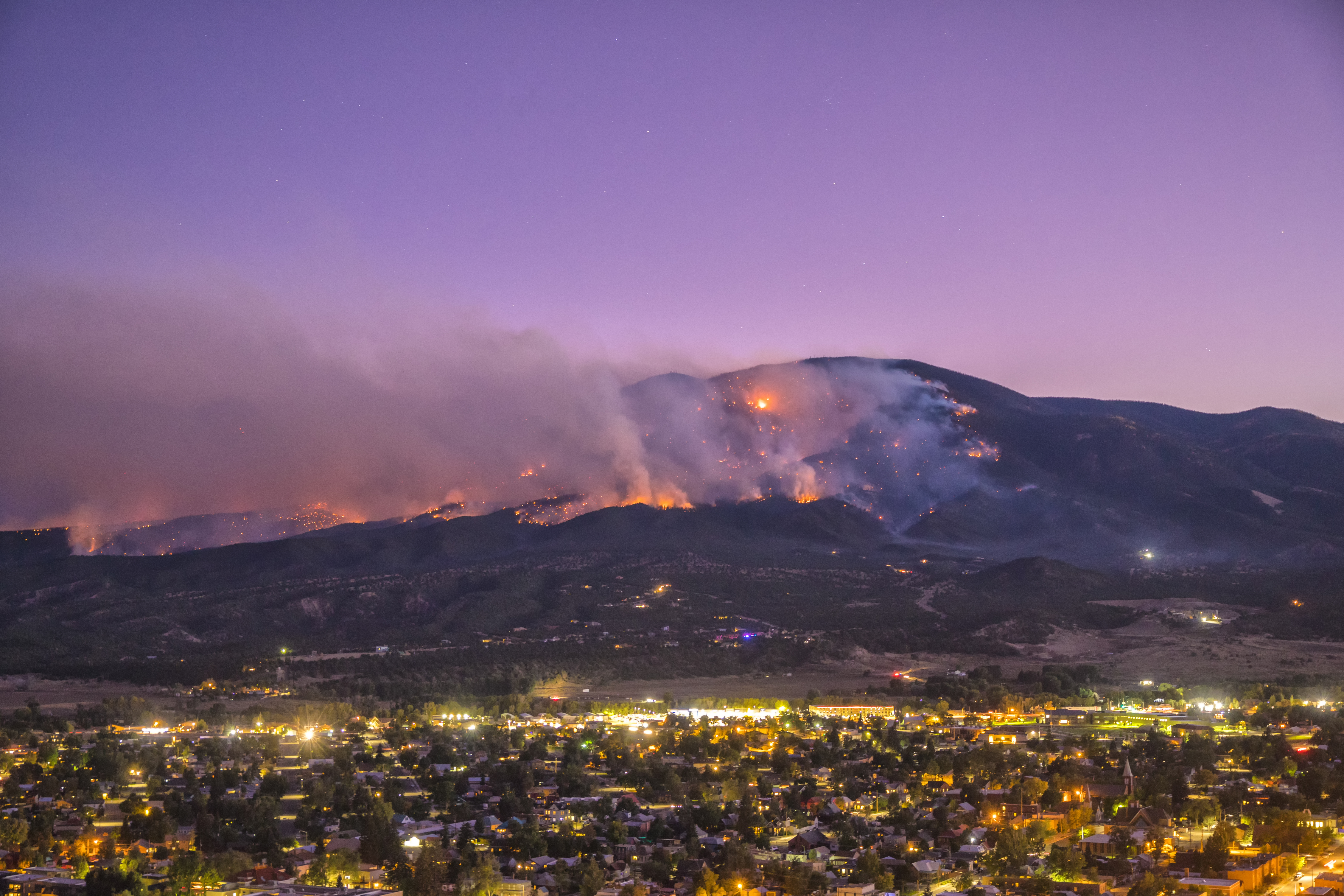 The Decker Fire near Salida, Colorado the morning the author was evacuated. Credit: Joe Randall