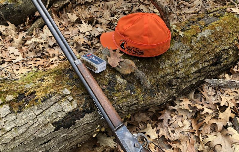 Hunting squirrels on public land using nonlead copper ammunition.