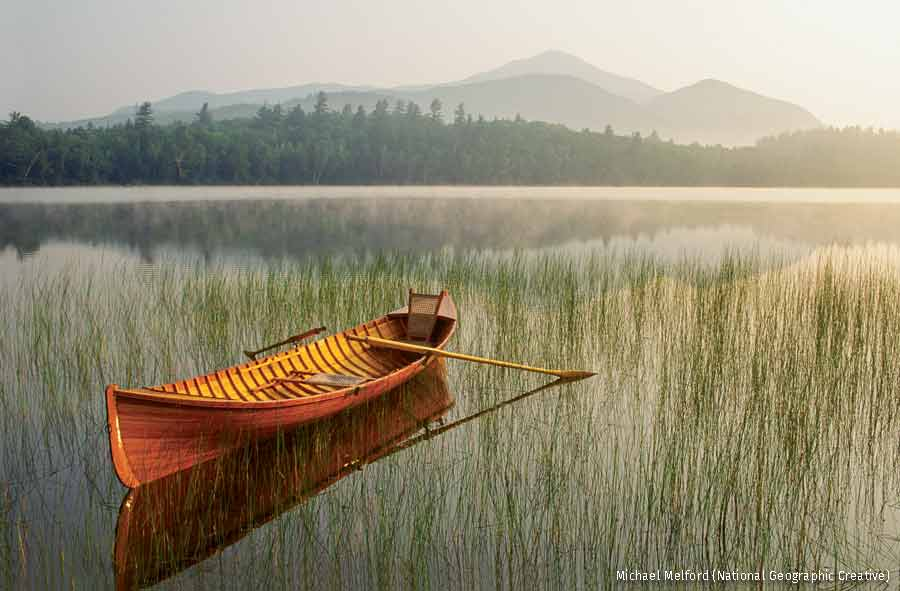 Fishing boat, Adirondack, New York