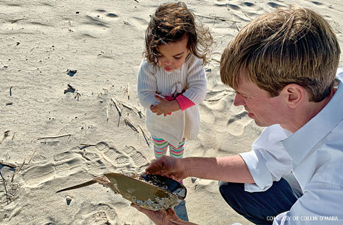 Collin O'Mara and daughter, Delaware Bay