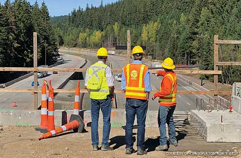 Near Snoqualmie Pass in Washington State, Collin O'Mara visits a wildlife crossing being built to allow animals safe passage over Interstate 90.