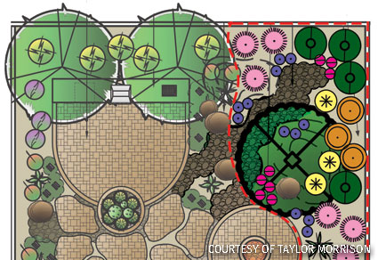 A Taylor Morrison butterfly garden layout