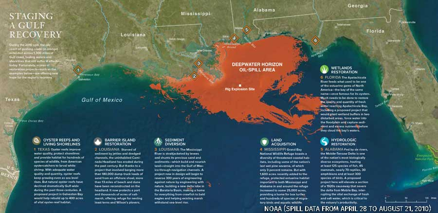 Map of Deepwater Horizon spill
