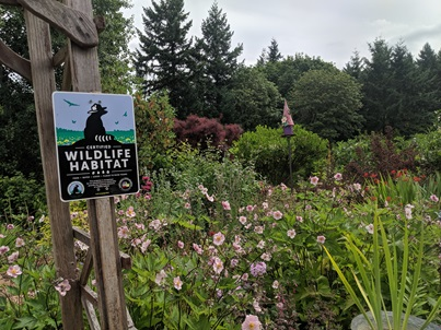 WA certified wildife habitat sign