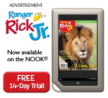 Ranger Rick Jr is now available on the Nook!