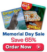 Save 65% on Ranger Rick and Ranger Rick Jr.
