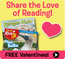 Get free Valentines from Ranger Rick!