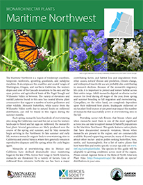 Maritime Northwest Monarch Plant List by NWF and Xercies Society