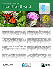 Inland Northwest Monarch Plant List by NWF and Xercies Society
