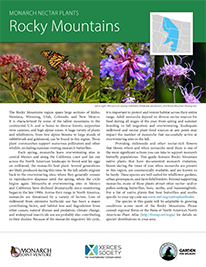 Rocky Mountain Monarch Plant List by NWF and Xercies Society