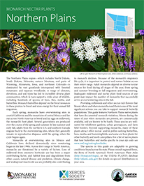 Northern Plains Monarch Plant List by NWF and Xercies Society