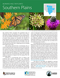 Southern Plains Monarch Plant List by NWF and Xercies Society
