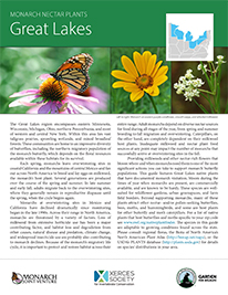 Great Lakes Monarch Plant List by NWF and Xercies Society