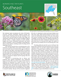 Southeast Monarch Plant List by NWF and Xercies Society