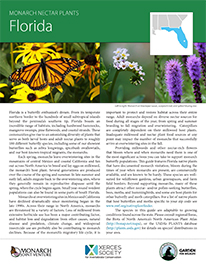 Florida Monarch Plant List by NWF and Xercies Society