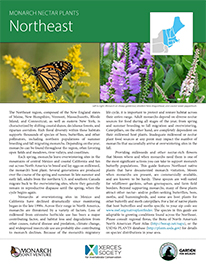 Northeast Monarch Plant List by NWF and Xercies Society