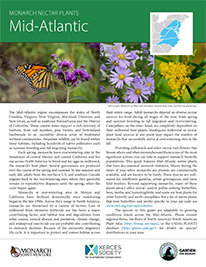 Mid-Atlantic Monarch Plant List by NWF and Xercies Society